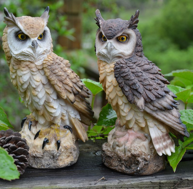 Artificial Simulation Resin Owl Garden Weed Pest Control Molding Home Decor Accessories