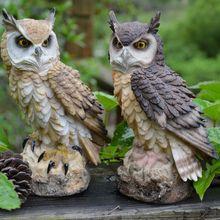 Artificial Simulation Resin Owl Garden Weed Pest Control Mol