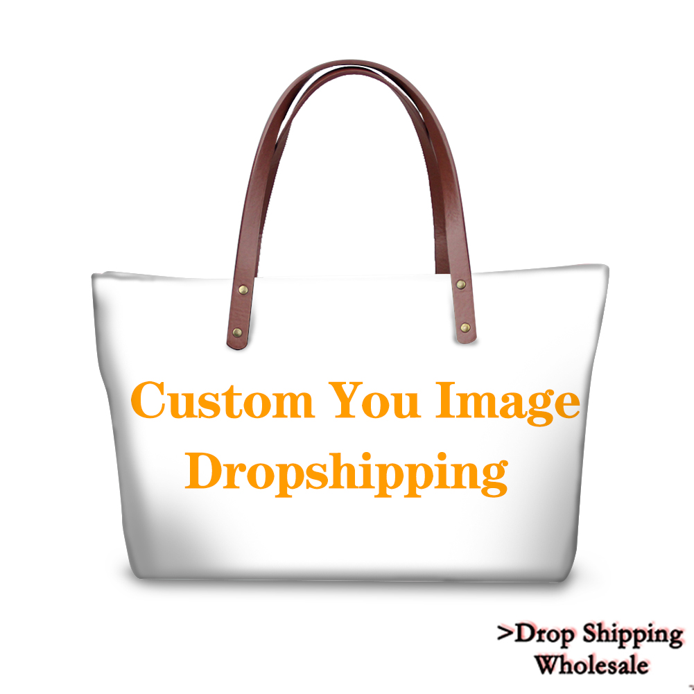 3D Customize Your Personalized Pattern Bags Drop Shipping Canvas Shopping Bag Women Large Handbags Tote Crossbody