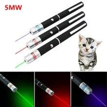 5mw led laser animal de estimação gato brinquedo ponto vermelho luz visão 530nm 405nm 650nm interativo ponteiro caneta laser