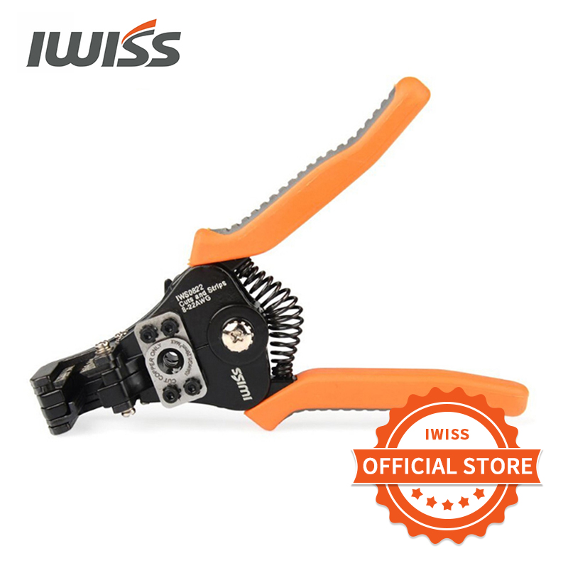 IWISS  IWS-0822  multifunctional  Automatic Cable Wire Stripper 0 35-8 2mm     Stripping Crimper Crimping Plier Cable Cutter Tool