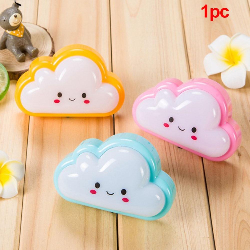 Bulb Wall Plug Mini Cute Socket Cloud Shape Bedside Lamp Baby Kids Bedroom Durable ABS Cartoon Button Night Light
