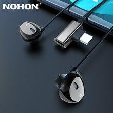 タイプc 2で1イヤホンマグネットフォン超低音充電アダプタータイプcサムスンS9 S10 xiaomi 8 9電話ステレオスポーツヘッドセット
