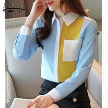Office Lady Shirts 2019 Autumn Fashion Women Chiffon Blouses
