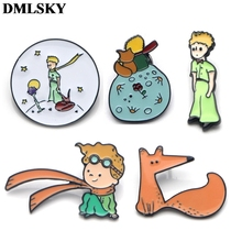 DMLSKY The little prince cute Brooch Cartoon Enamel Pins For Clothes Backpack Personality Pin jewelry M2863