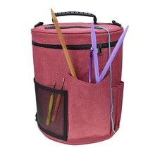 Переносная сумка-Органайзер для вязания крючком, сумка-тоут из пряжи, легко носить с собой, чехол-органайзер для вязания крючком и вязания крючком для женщин и мам