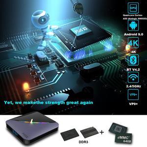 Image 2 - A95X F3 Android 9.0 Tv boîte rvb lumière TV boîte 4GB 64GB 32GB Amlogic S905X3 boîte 2.4/5G wifi 8K Plex médias serveur boîte intelligente