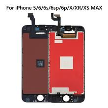 High Lcd display for iPhone X XR XS MAX Screen replacement Touch Screen Digitizer For iPhone 6 6s 6 plus 5S 7 8 LCD pantalla transparent shockproof phone case for iphone 7 8 6 6s plus case back cover for iphone 11 pro max case for iphone x xs max xr