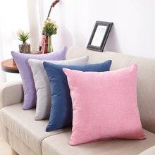 Housse de coussin à la mode, taie d'oreiller de couleur unie, décoration de café, canapé, maison, accessoires de décoration de chambre, 2021