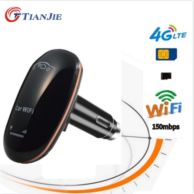 3G/4G déverrouiller les données de la carte SIM CarFi 150Mbps LTE voiture WiFi routeur Modem dongle sans fil avec bouton dalimentation