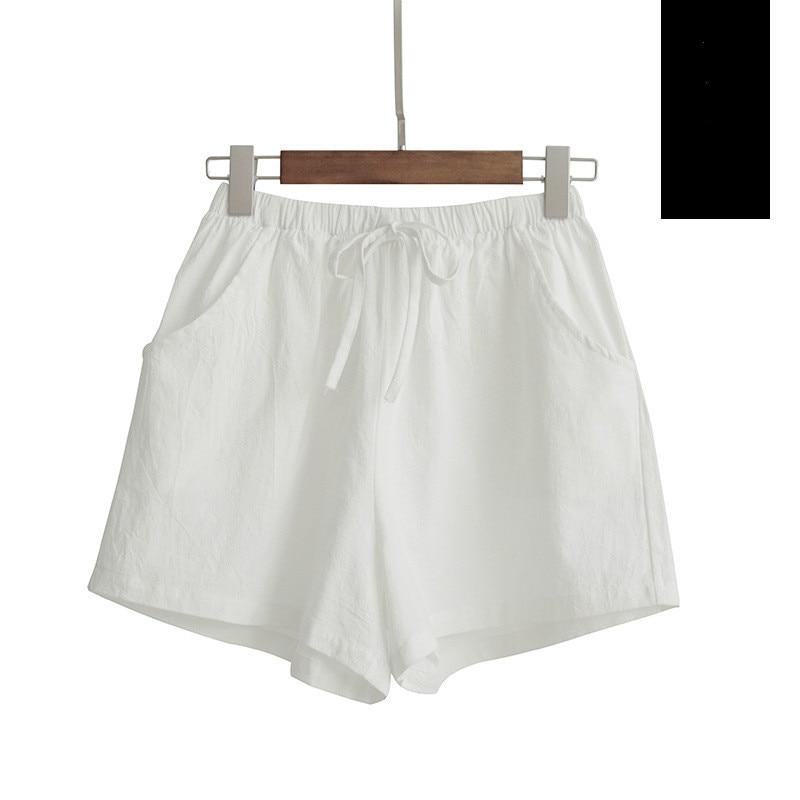 New Hot Summer Casual Cotton Linen Shorts Women Plus Size High Waist Shorts Fashion Short Pants  Streetwear Women's Shorts 15