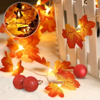 3M 20Lights Maple Leaves Led Fairy Lights for Christmas Decoration Autumn String Light Festive DIY H