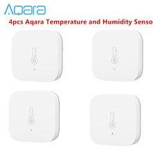 Pacote de venda aqara temperatura umidade sensor ambiente pressão ar para mijia casa inteligente zigbee controle sem fio