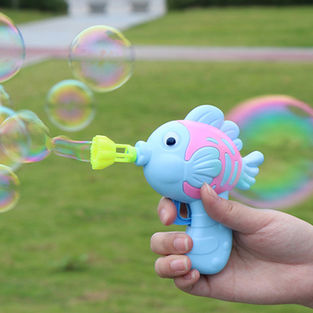 Cartoon Fish Bubble Gun Kids Toys Soap Water Bubble Machine Summer Bubble Maker Toys For Children Baby Adults Indoor Outdoor