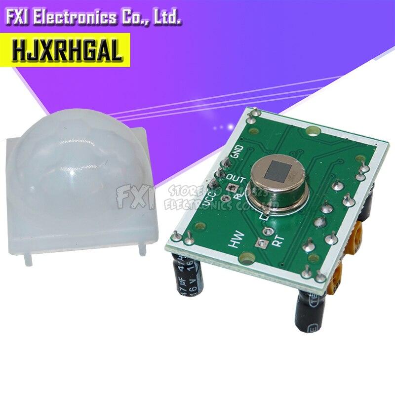 1 stücke SR501 HC-SR501 Einstellen Pyroelektrische Infrarot PIR module Motion Sensor Detektor Modul neue