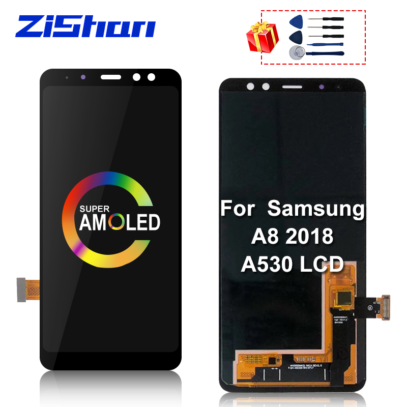 Super AMOLED For <font><b>Samsung</b></font> Galaxy A8 2018 A530 LCD Display Touch <font><b>Screen</b></font> Digitizer Assembly <font><b>A530f</b></font> A530N <font><b>Screen</b></font> Replacement Parts image