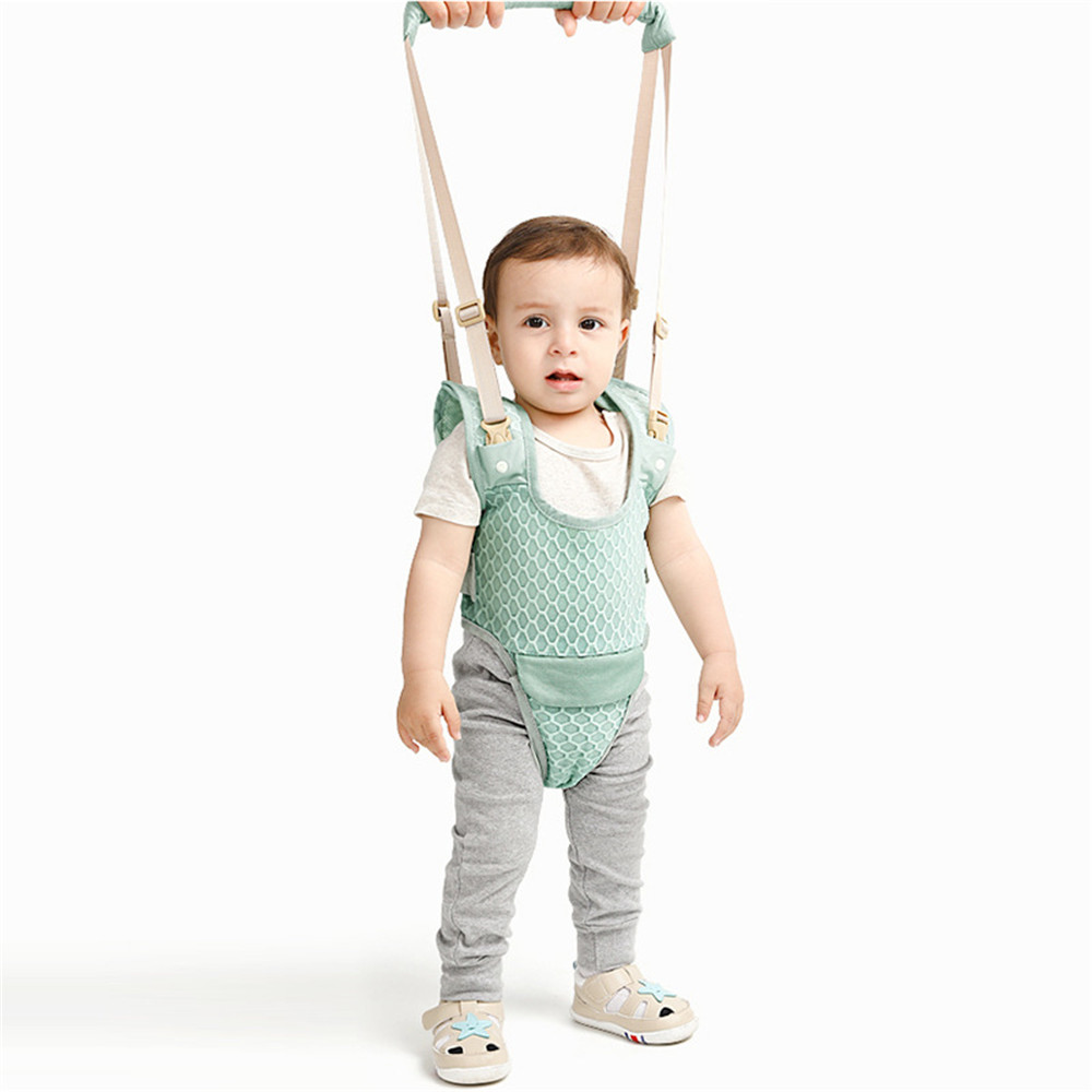 Harnesses & Leashes Baby Toddler Belt+ Bibs Walking Learning Belt Walker Stand Up Leashes Strap Walk Adjustable Multi-functional