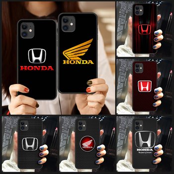 Honda car logo luxury Phone Case Cover Hull For iphone 5 5s se 2 6 6s 7 8 plus X XS XR 11 PRO MAX black cover fashion funda tpu image