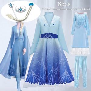 Elsa Dress 2 Kids Dresses For Girs Elsa Anna Costume Carnival Birthday Party Dress Toddler Girls Princess Dress Childrn Clothing(China)