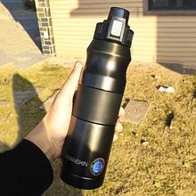 500ml 680ml podwójne termos sportowy ze stali nierdzewnej przenośny odkryty wspinaczka butelka termiczna kawy i herbaty kubek izolowany tanie tanio CN (pochodzenie) HA477 STAINLESS STEEL Ekologiczne Zaopatrzony Duża pojemność vacuum Termosy próżniowe termosy i Brzuch puchar