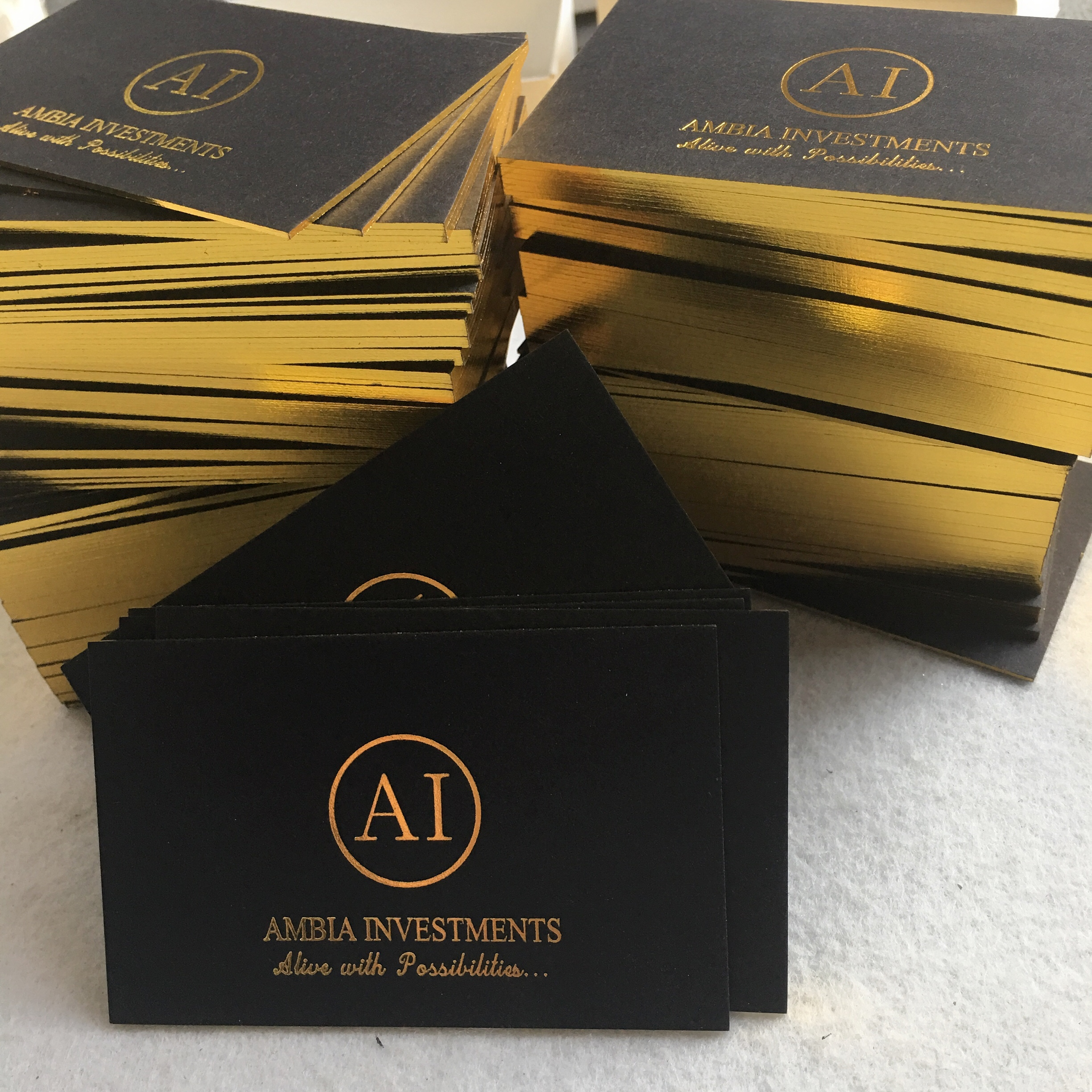 30 Foil Stamped Business Cards Wholesale