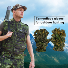Headwear Ghillie-Gloves Hunting Camouflage 3D for Jungle Fishing And Wildlife Photography