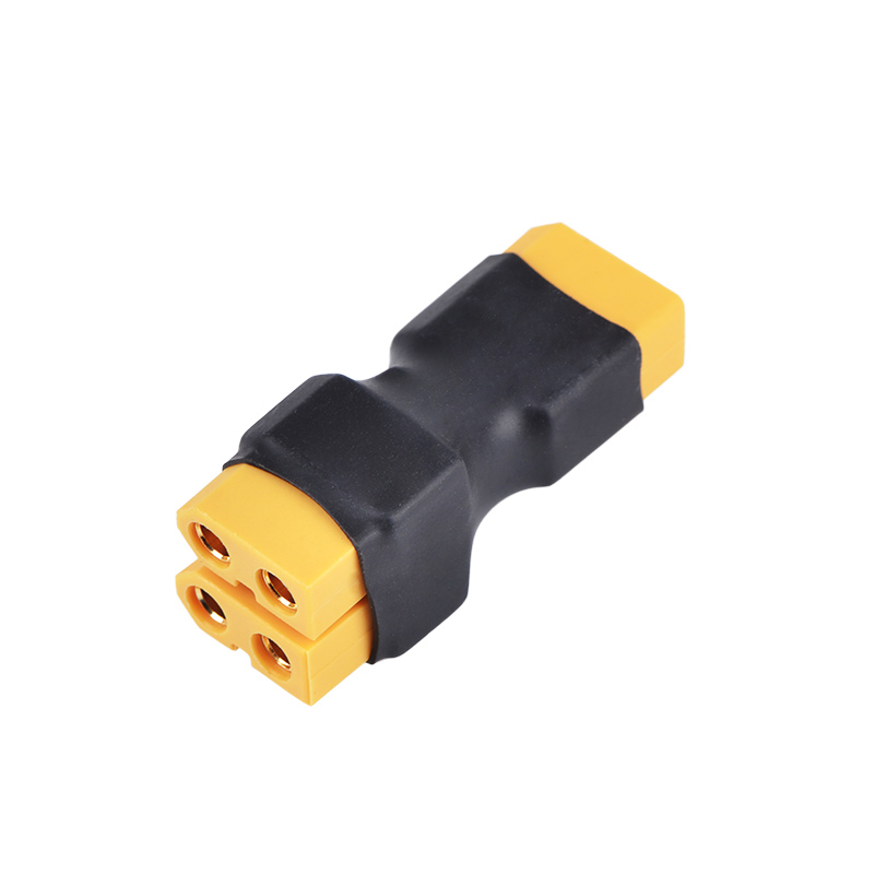 One FeMale XT60 Plug To Two Male XT60 Plug Connector For RC Model Drone Adapter Wirings Spare Parts