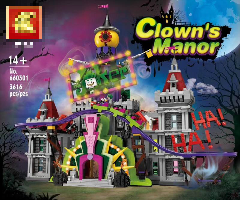 3616 Pcs The Joker's Manor Set Buidling Blocks Bricks Compatible With 70922 Bricks Toys Birthday Gifts For Kids