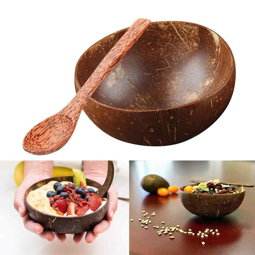 Cuchara de coco Natural 100% cuenco de cáscara de coco fabricado respetuoso con el medio ambiente cuchara de coco regalo hecho a mano