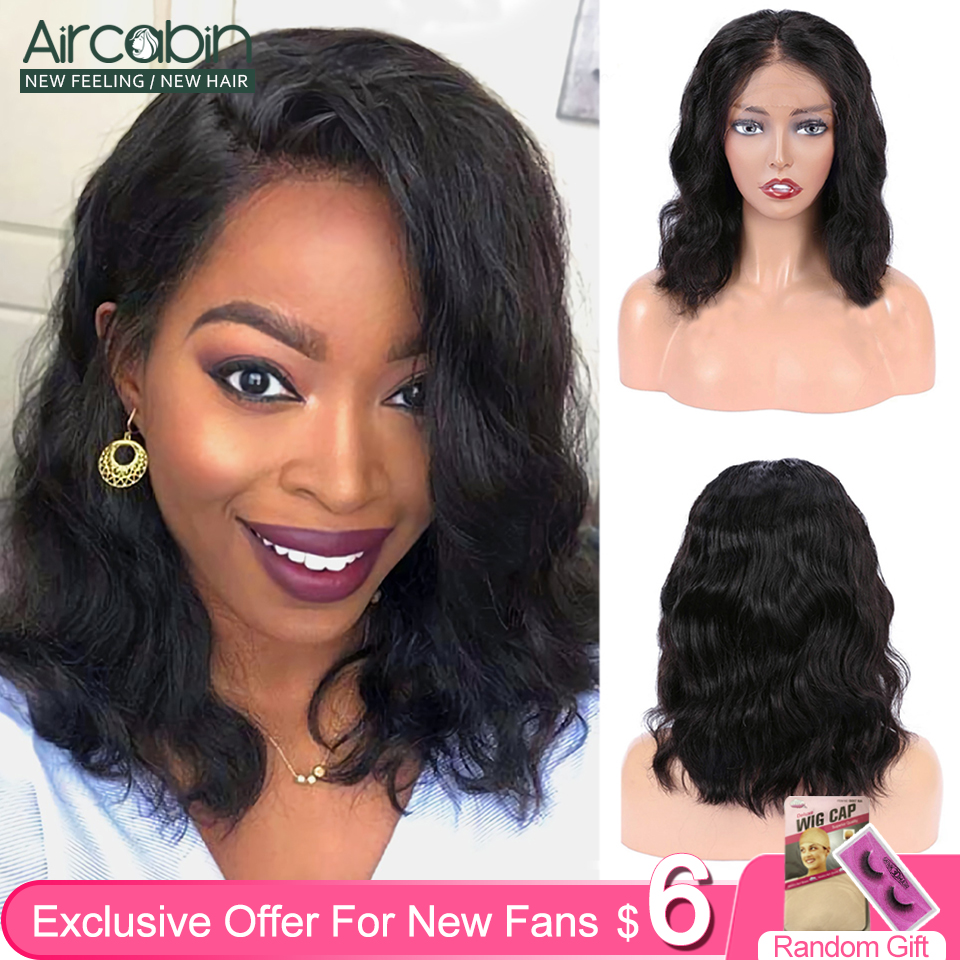 Aircabin 13x4 13x6 Lace Frontal Bob Wigs Body Wave Brazilian Human Hair 8