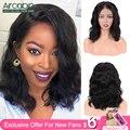 4000860750660 - Aircabin, pelucas de encaje Frontal Bob 13x4 13x6, cabello humano brasileño ondulado, 8 -16, peluca corta de encaje Bob para mujeres negras, cabello no Remy