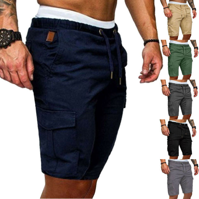 Mens Military Cargo Shorts New Army Camouflage Tactical Shorts Men Loose Work Casual Short Pants Plus Size bermuda masculina