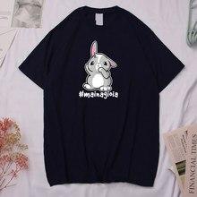 T-shirt in cotone di alta qualità MAI NA GIOIA! T-shirt con stampa t-shirt da uomo traspiranti estive t-shirt in cotone O collo top di coniglio di cartone animato