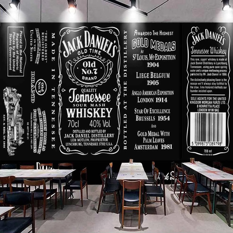 Custom Any Size Mural Wallpaper 3D Blackboard English Letter Coffee Shop Western Restaurant Background Wall Painting 3D Frescoes