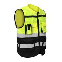Safurance S/M/L Высокая Видимость Hi-Vis жилет безопасности Светоотражающая куртка для водителя ночной жилет безопасности с карманами для работы