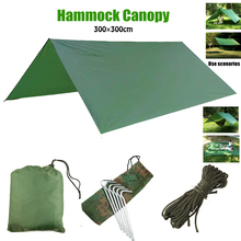 Waterproof Sun Shelter Awning Tent Tarp Outdoor furniture Camping Hammock Rain Fly Anti UV Beach Tent Shade Camping Sunshade цена