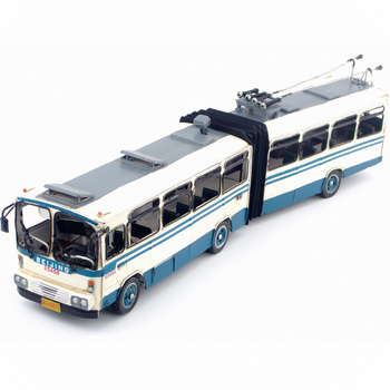 Vintage iron car model Old Beijing Bus car decoration crafts ornaments bar old birthday gift decoration, antique