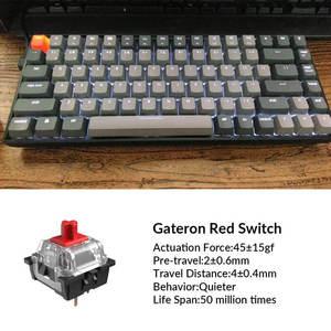 Image 3 - Keychron K2 A V2 블루투스 기계식 키보드 (Gateron 포함) 빨간색 스위치/흰색 LED 백라이트 84 키 무선 키보드 (Mac Windows 용)