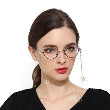 1шт женщин новая мода очки кулон ожерелье падение цепи полые Звезда солнцезащитные очки Очки для чтения цепь черноты веревка ремешок
