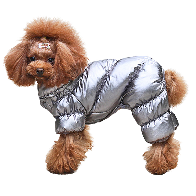 Dog Winter Metallic Coat  2