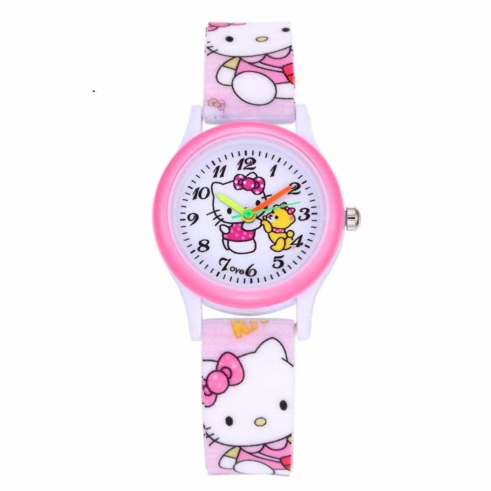 Hello Kitty Silicone Band Wristwatch Hodinky Fashion Casual Quartz Watch Children Boys Girls Drop Shipping Montre Enfant Garcon
