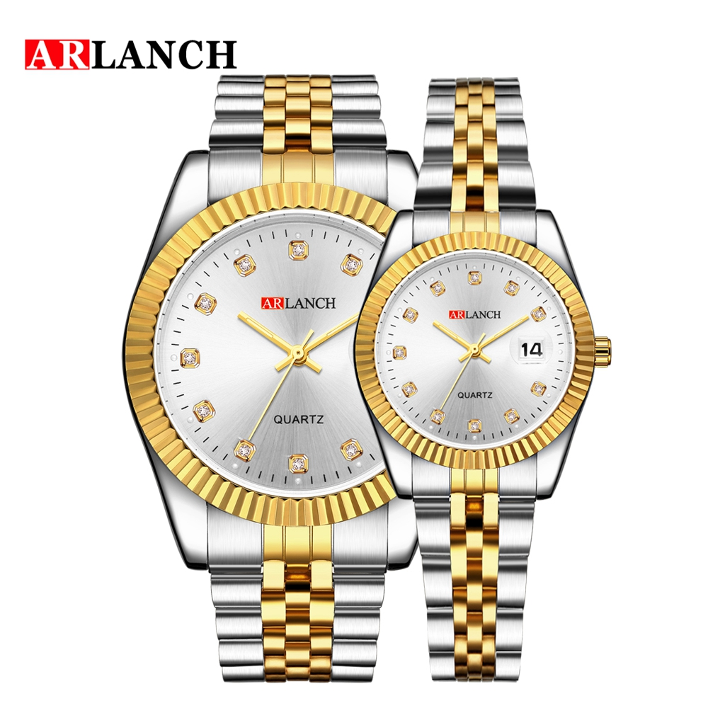 Top Brand Luxury Gold Clock Waterproof Date Watch 2019 Lover Watches Fashion Stainless Steel Business Casual Rolexable Watches