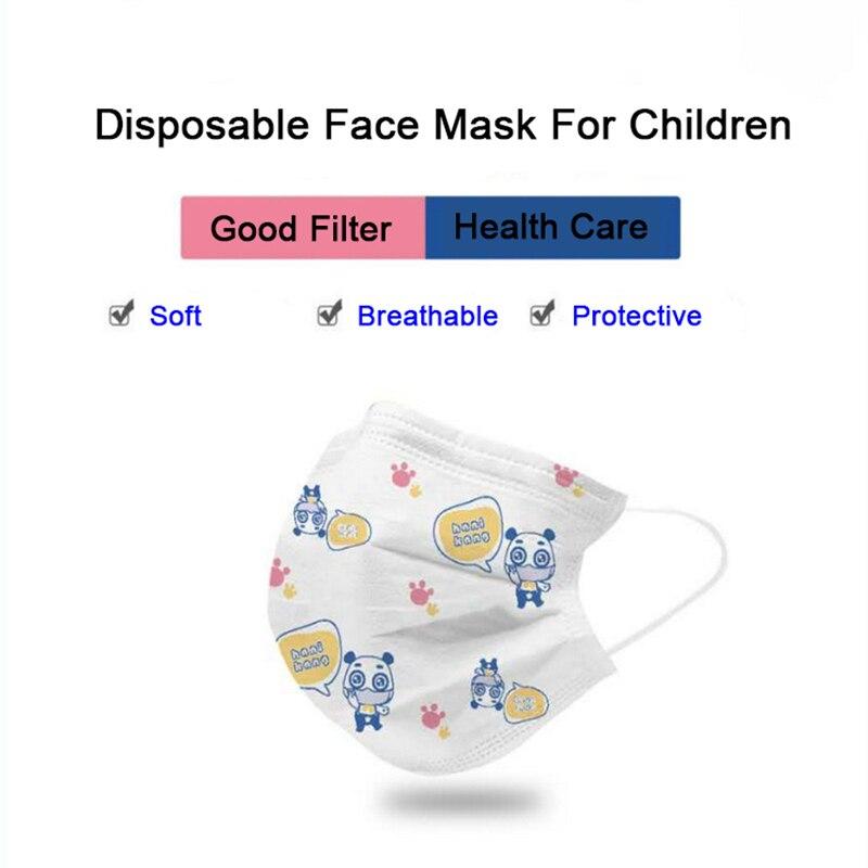 10/50/100 шт Детские Мультяшные одноразовые противопылевые маски для рта ушные петли противозагрязняющие маски для лица Личная защита здоровье|Маски| | - AliExpress
