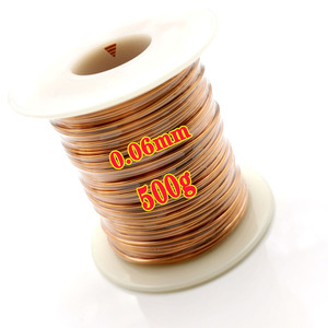 Image 3 - 500g/roll 0.1mm 0.2mm 0.4mm 0.5mm 0.65mm  0.8mm 1.0mmCable copper wire Magnet Wire Enameled Copper Winding wire Coil Copper Wire