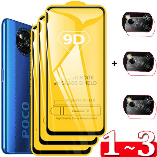 1 ~ 3 szkło hartowane Poco M3 X3 Pro aparatu folia ochronna Xiaomi Poko PocoPhone X3 F2 X3Pro folie ochronne na ekran Redmi Poco X-3 Pro F3 Glass Xiaomi Poco X3 NFC szklanka Poco M3 Pro 5G tanie i dobre opinie ALLORUS Przezroczysty TEMPERED GLASS CN (pochodzenie) Folia na przód 9D High Quality HD Screen Protector Glass 360 Full Cover Safty Screen Protectors 9H Tempered Glass