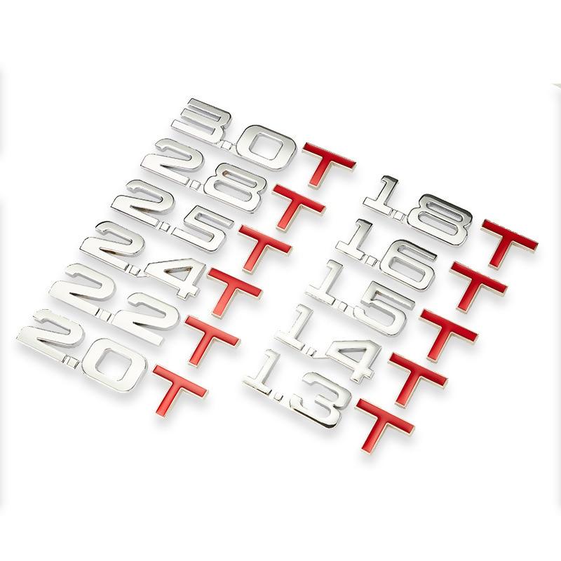 3D металлический Автомобильный багажник двигателя шкала смещения эмблема V6 V8 4WD Авто наклейки 1,3/1,4/1,5/1,6/1,8/2,0/2,2/2,4/2,5/2,8/3,0 T