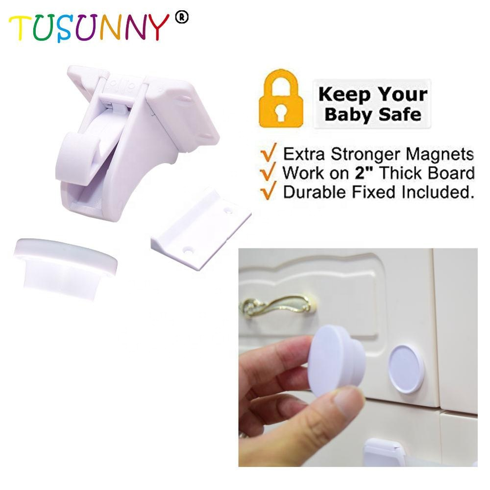 TUSUNNY Baby Security Magnetic Lock Magnet Cabinet Drawer Lock For Child Safety