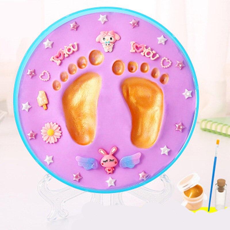 Baby Hand Print Footprint Imprint Kit Baby Handprint Mud And Foot Print Baby Souvenirs Baby Hand And Foot Mold Hundred Days Gift