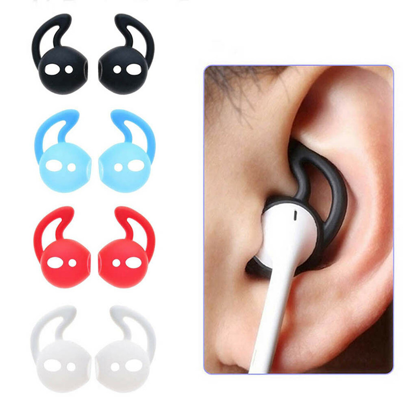 1/3/5 Pairs Silicone Earphone Case Ear Wings Hook Cap Earhook Cases Cover For Apple Iphone Airpods Sport Accessories