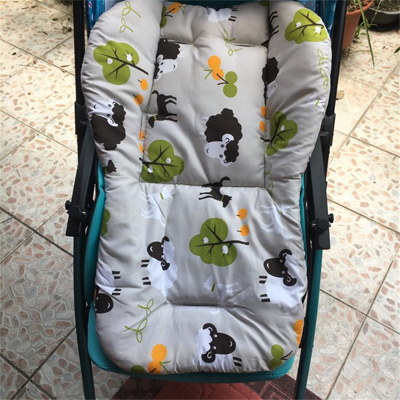Baby Care Seat Cushion Stroller Mattress Printed Soft Thick Seat Pad For Baby Carriage Chiar Pram Car Mat Thick Warm Fashion
